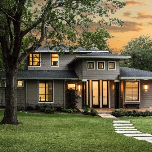 front, entry, yard, modern, contemporary, transitional, austin, architect, architecture, historic