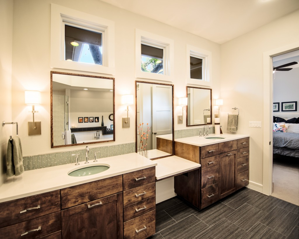 master bath, bathroom, sinks, silestone, modern, contemporary, transitional, austin, architect, architecture