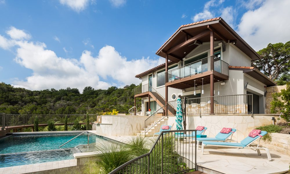 Rob Roy, Guest House, Austin TX, Texas Hill Country, Contemporary homes, infinity pool, contemporary home style